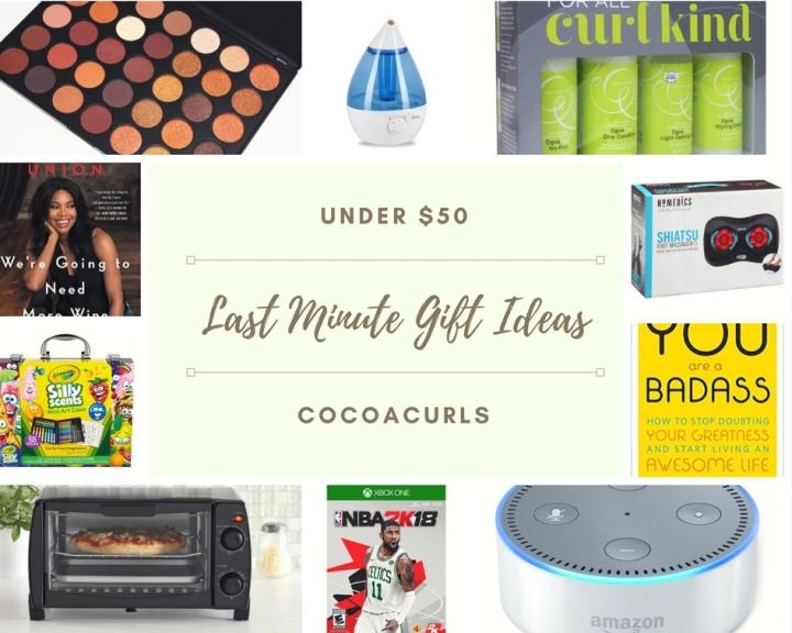 Last Minute Gift Ideas Under$50